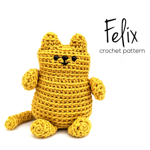 Felix the Fat Cat Crochet Amigurumi Pattern
