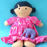 Dress Up Bunch Doll Nightgown, Quilt, and Elephant Softie