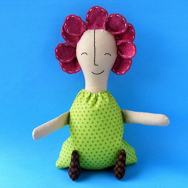 Flower Girl Rag Doll sewing pattern