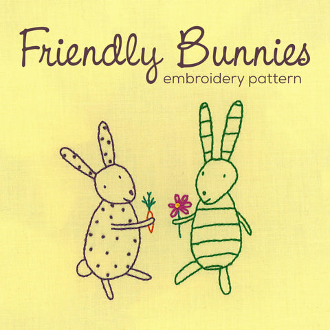 Friendly Bunnies embroidery pattern