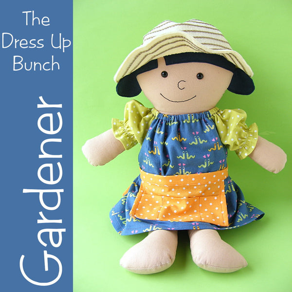 Garden Collection - Dress Up Bunch Doll Dress, Apron and Hat Pattern