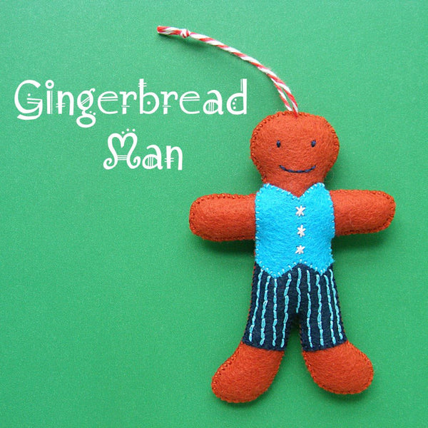 Gingerbread Man Ornament Pattern