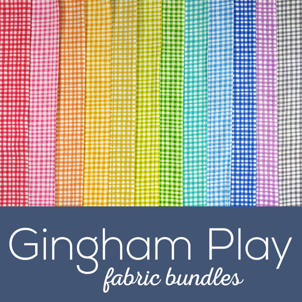 Gingham Play Fabric Bundles