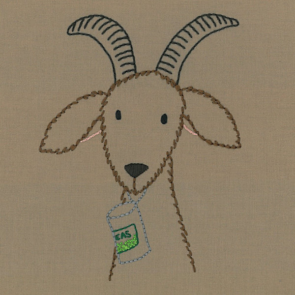 Hungry Goat embroidery pattern