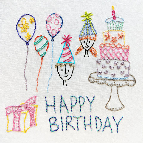 Happy Birthday embroidery pattern