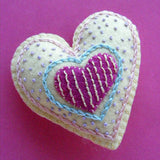 Have a Heart - Embroidered Felt Mobile Pattern