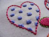 Hearts embroidery pattern