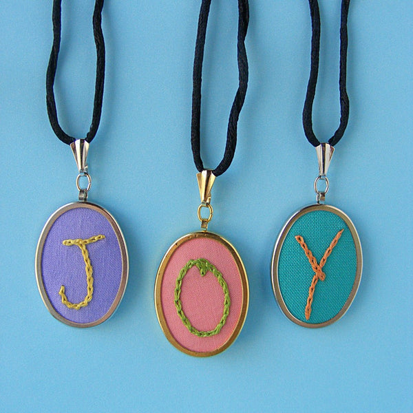 Joy ABC embroidery pattern