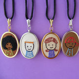 Kiddie Cameos embroidery pattern