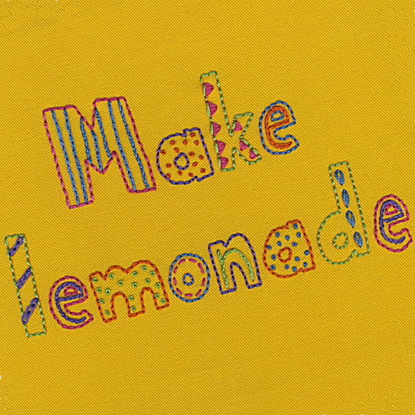 Lemonade Stand ABC embroidery pattern