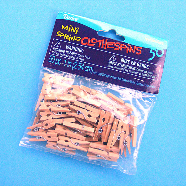 Mini Spring Clothespins - pack of 50