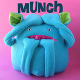Munch - a softie pattern with a fun pocket mouth