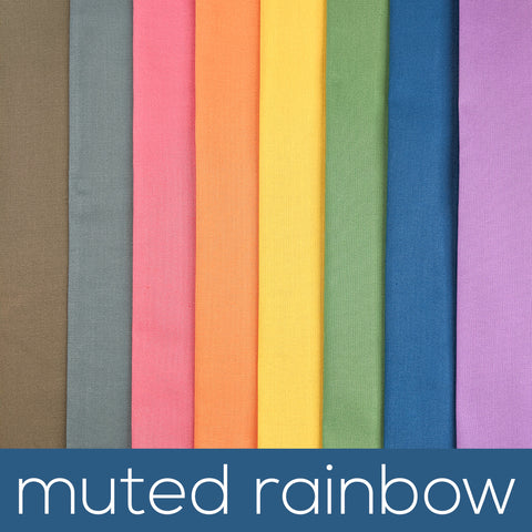 Muted Rainbow Fabric Bundles