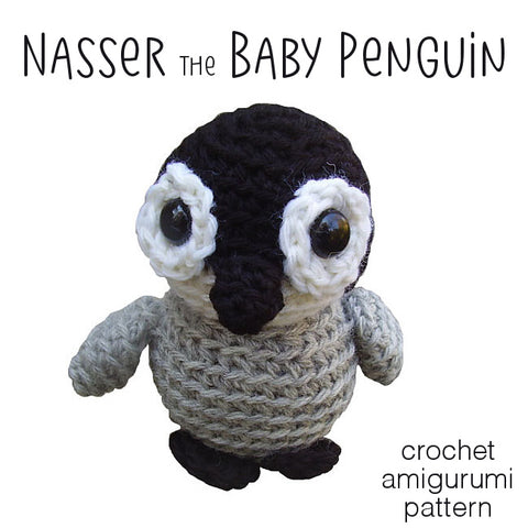 Nasser the Baby Penguin Crochet Amigurumi Pattern
