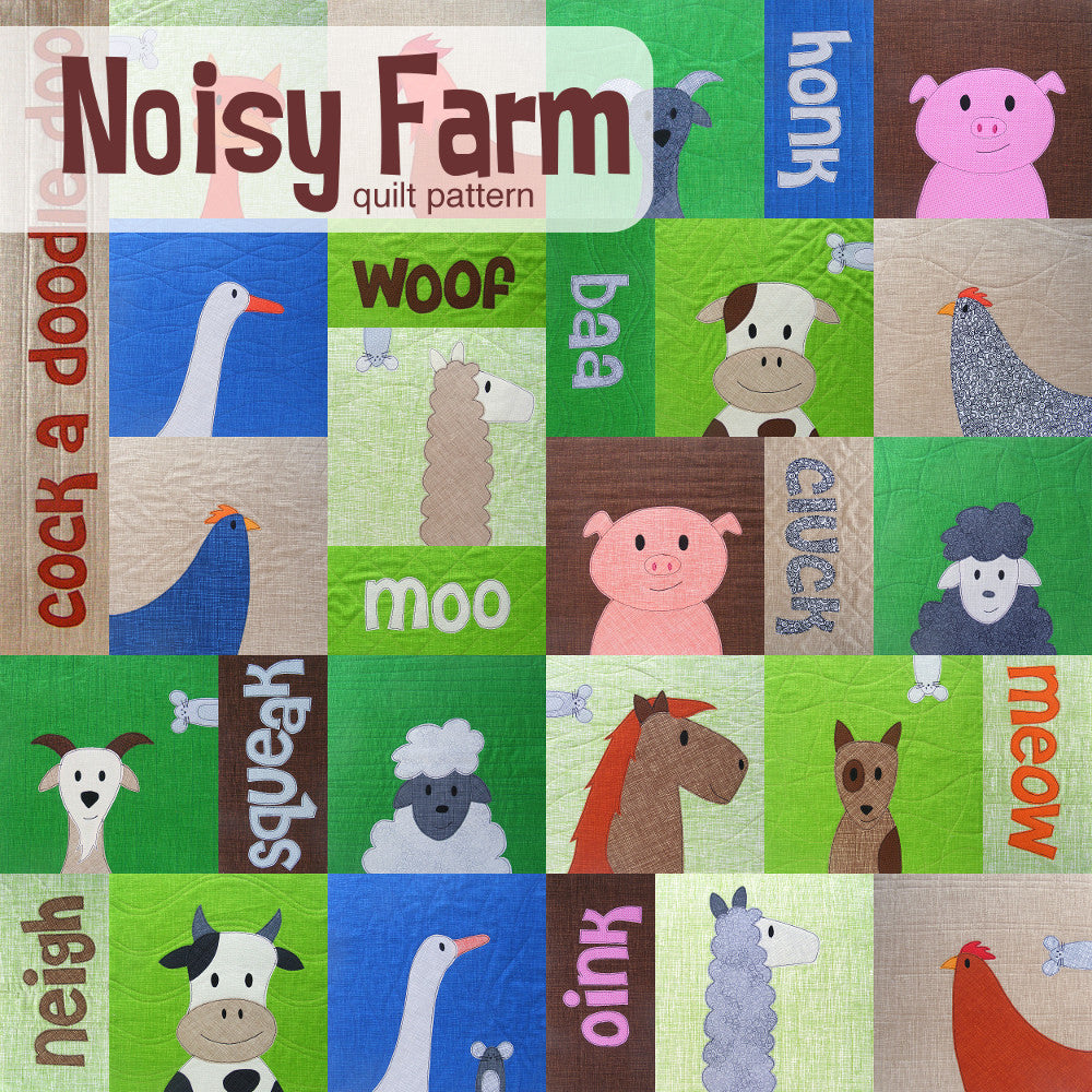 Noisy Farm Quilt Pattern Shiny Happy World