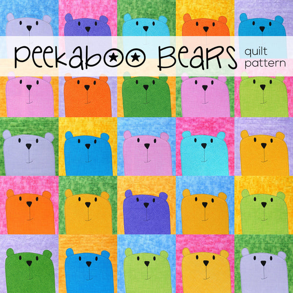 Peekaboo Bear applique quilt pattern