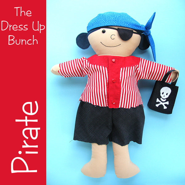 Dress Up Bunch Doll Pirate Costume and Trick or Treat Bag