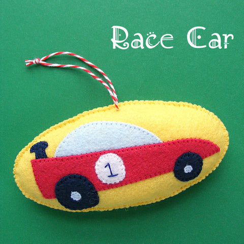 Race Car Ornament Pattern