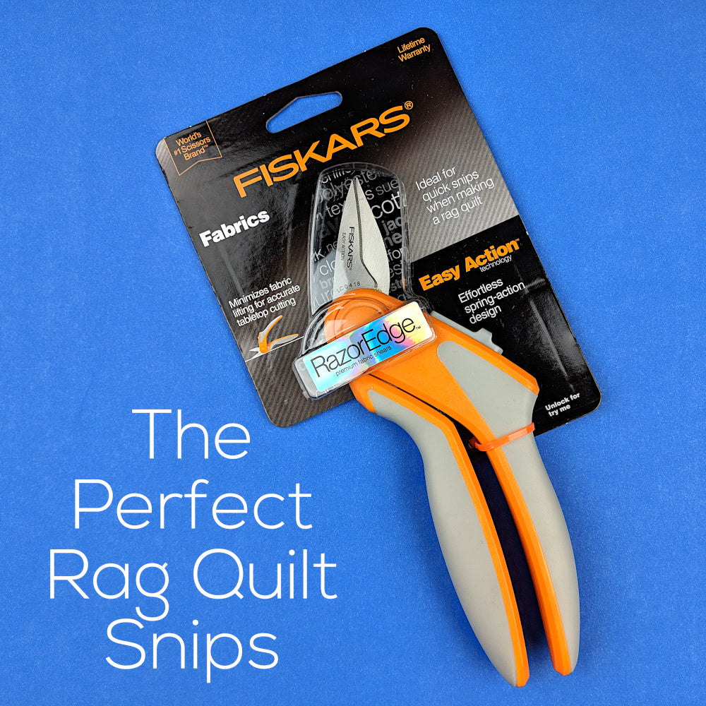 Fiskars Easy Action Razor Sharp Rag Quilt Snips