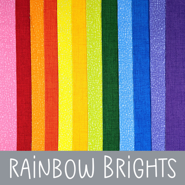 Rainbow Brights Fabric Bundles