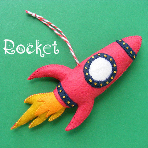 Rocket Ornament Pattern