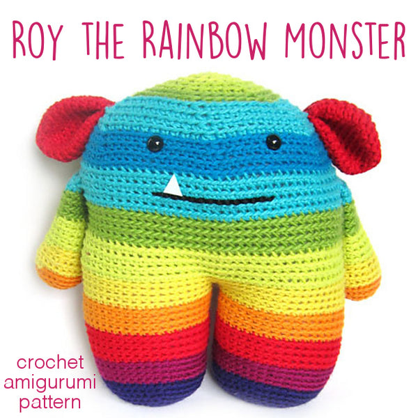 Roy The Rainbow Monster Crochet Amigurumi Pattern Shiny Happy World