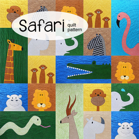 Safari - Applique Quilt Pattern