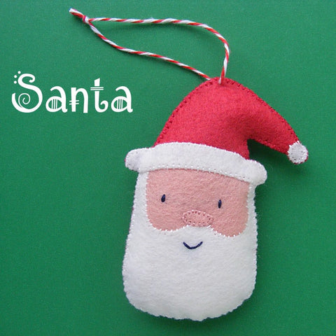 Santa Ornament Pattern