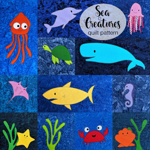 Sea Creatures Quilt Pattern