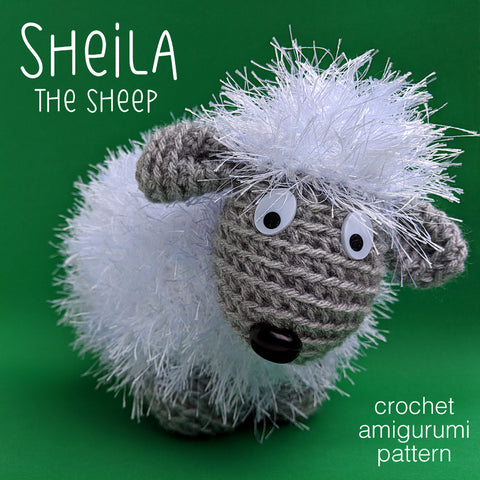 Sheila the Sheep Crochet Amigurumi Pattern