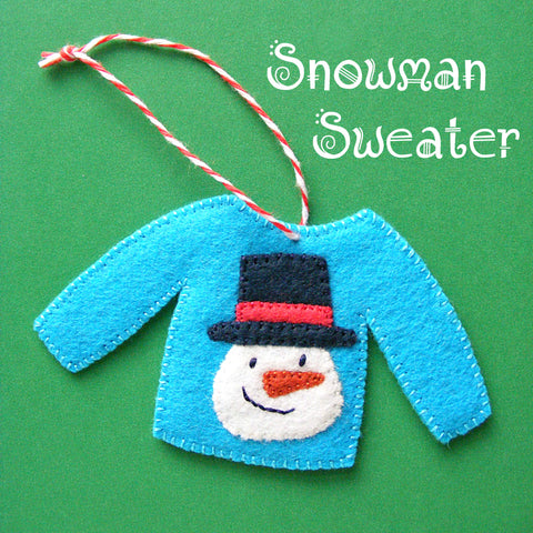 Snowman Sweater Ornament Pattern