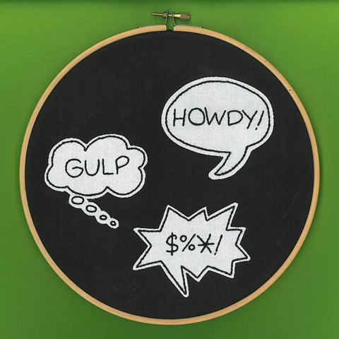 Comic Book ABC Embroidery Pattern