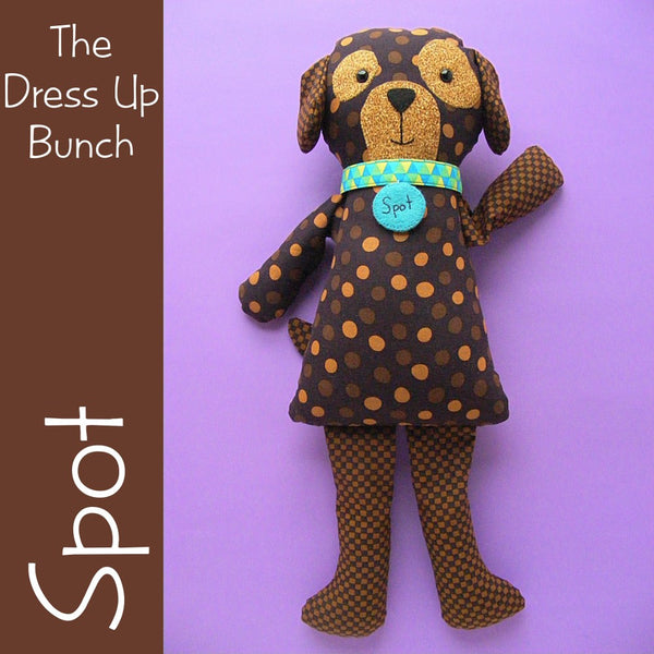 Spot - Dress Up Bunch Puppy Softie Pattern