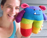 Roy the Rainbow Monster - crochet amigurumi pattern