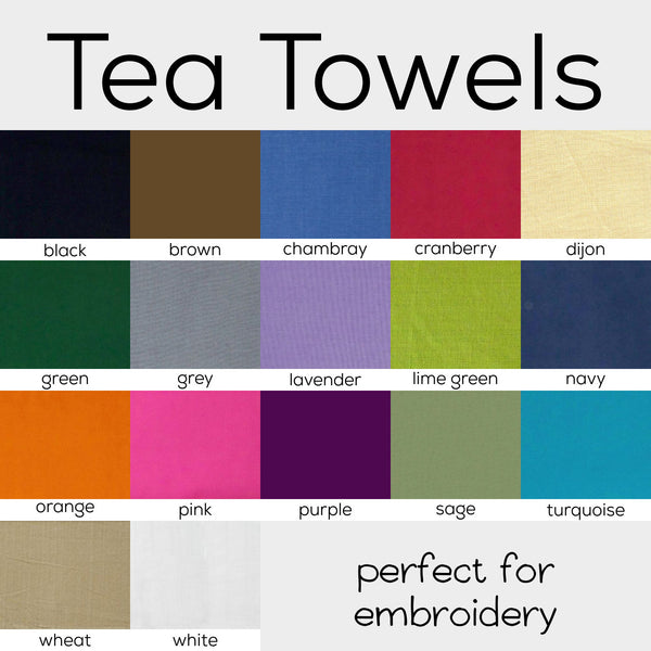 Colorful Stitchable Tea Towels