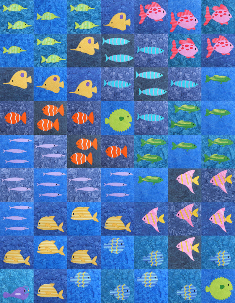 cotton a wave ocean sea quilt japanese asian shop fabric p htm fish navy loomshowroom pond koi c chinese water