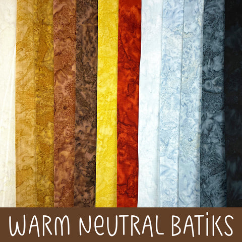 Warm Neutral Batiks Fabric Bundles