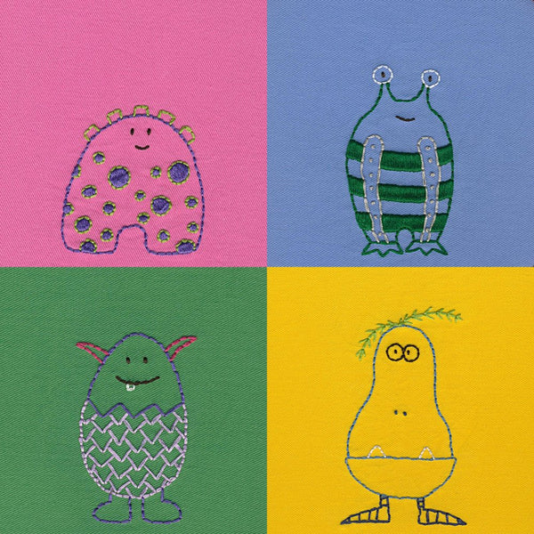 Mini Monsters embroidery pattern
