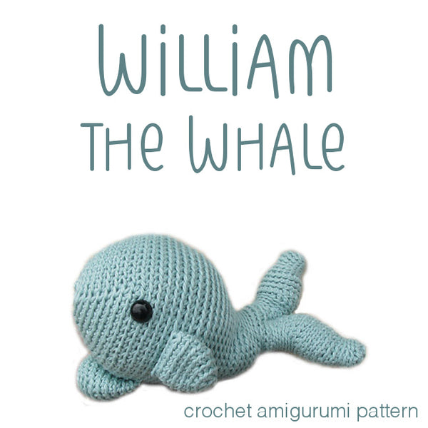 William The Whale Crochet Amigurumi Pattern Shiny Happy World Fascinating Whale Pattern