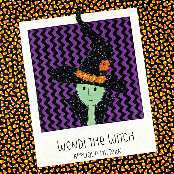 Wendi the Witch Applique Pattern