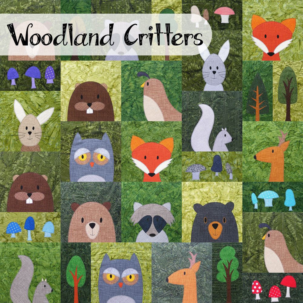 Woodland Critters Quilt Pattern - Craftsy Class