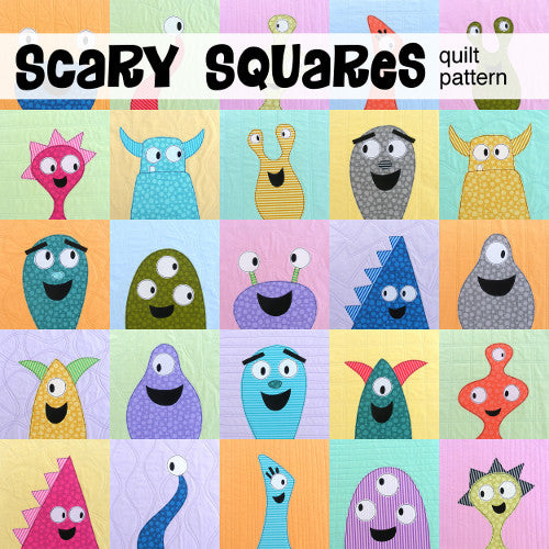 Scary Squares quilt pattern