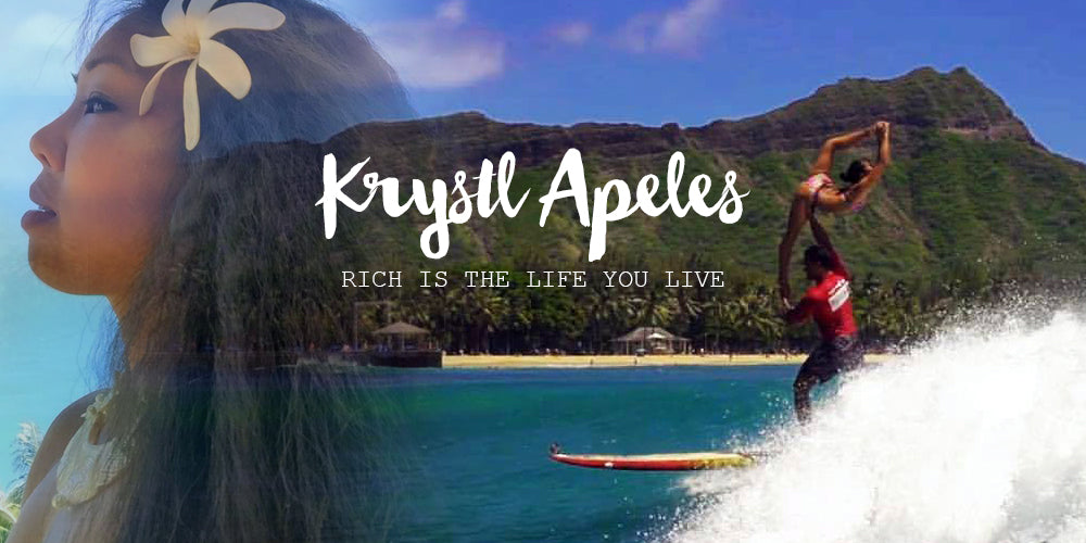 Krystl Apeles Kalani Vierra Tandem Surfing World Champion 2017 interview on Beachcuties Boutique