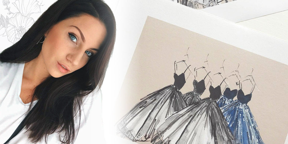 Interview with Swedish fashion illustrator Emma Hanson at Beachcuties Boutique.