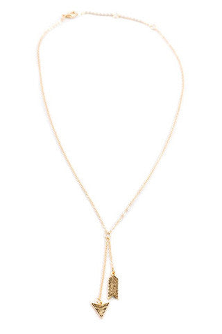 ARROWBAR GOLD NECKLACE