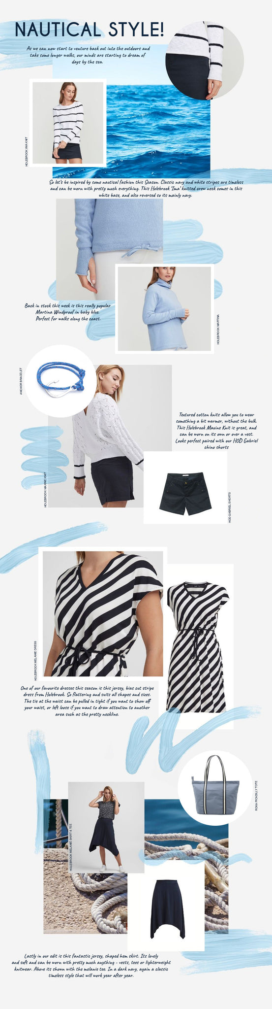 Our best of Nautical Style, breton stripes and cool crisp cottons
