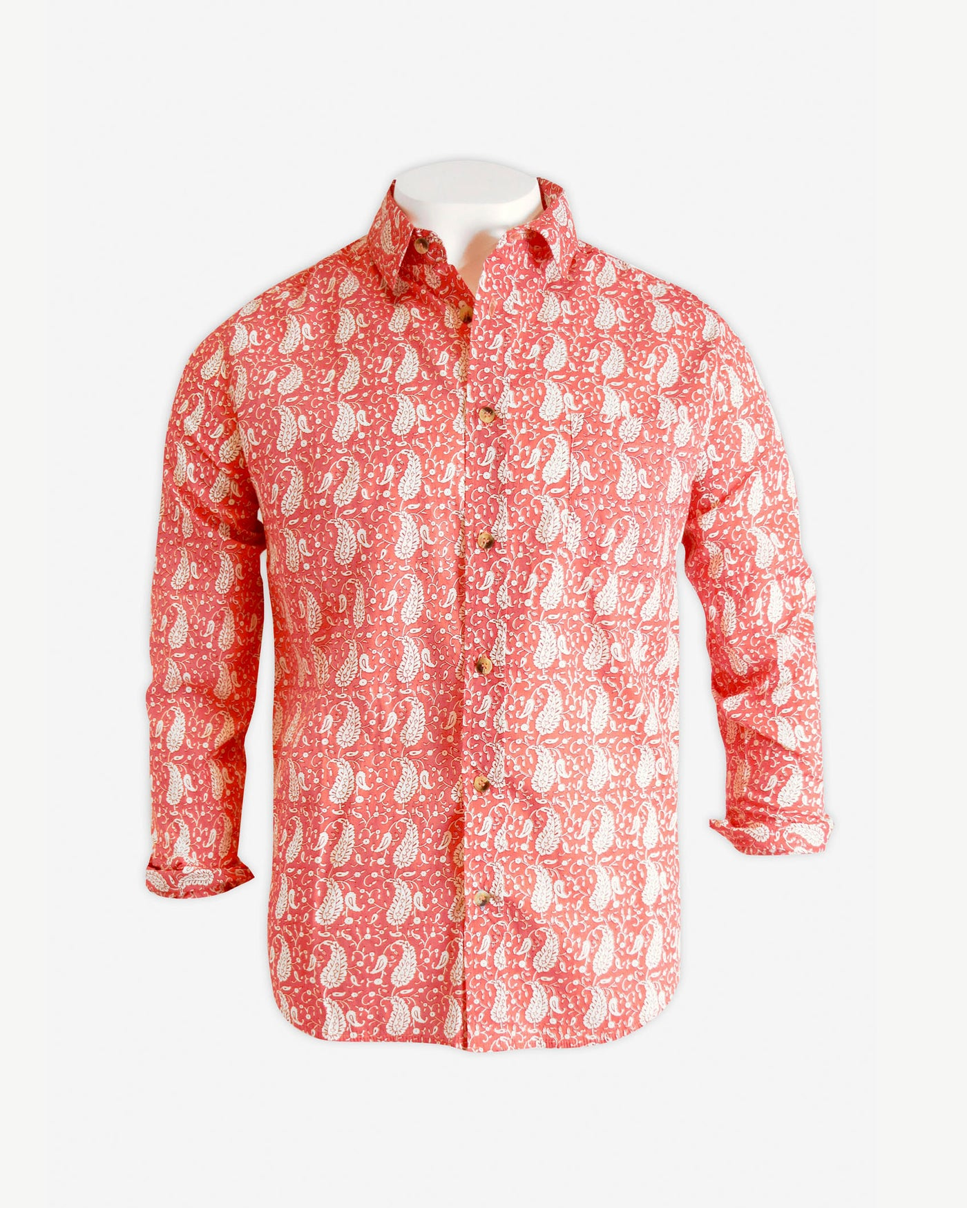Aloft Pink Paisley Beach Shirt