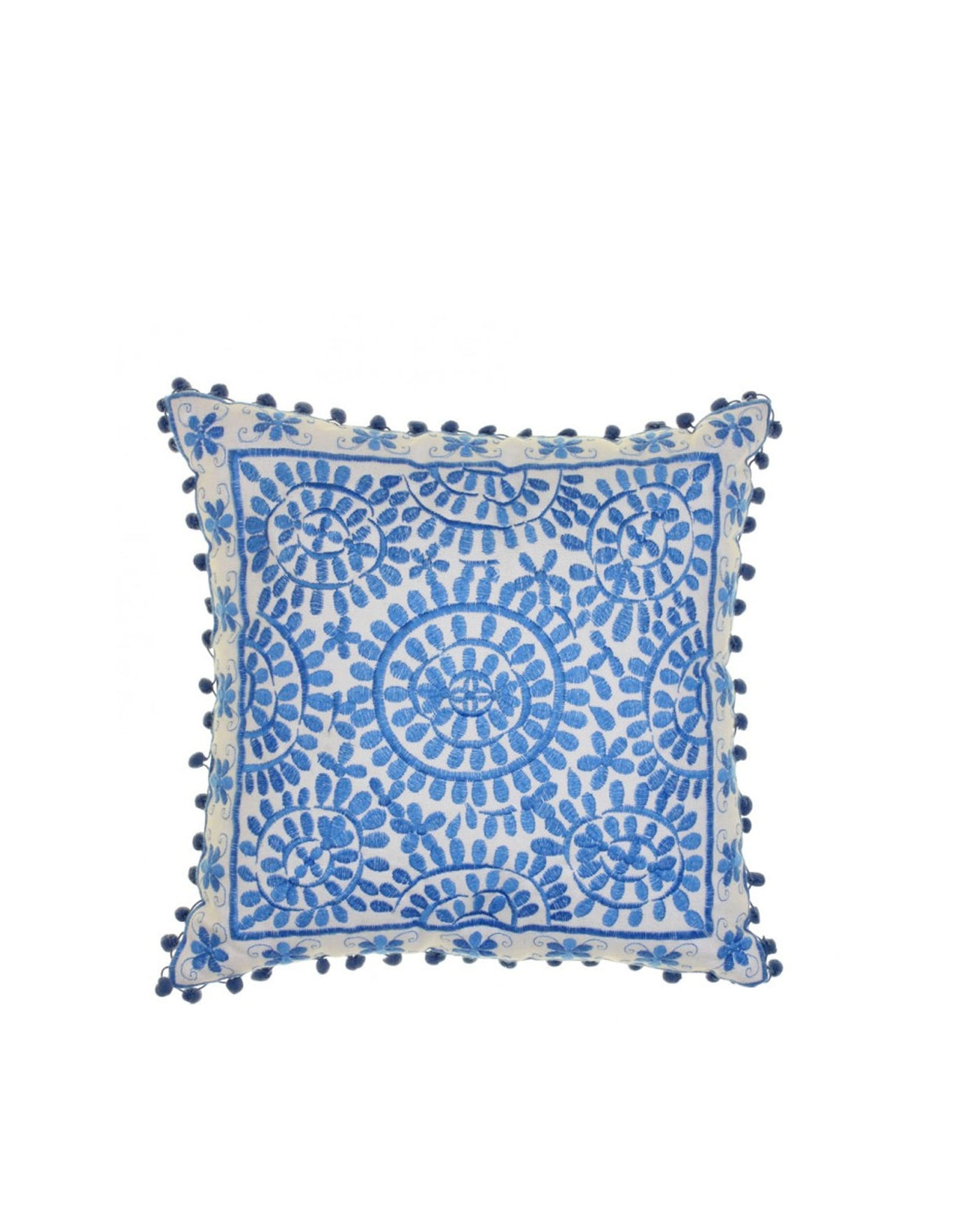 Souk Patterned Blue Rectangle Cushion