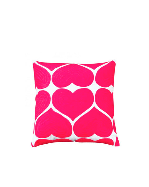 Embroidered Heart Cushion
