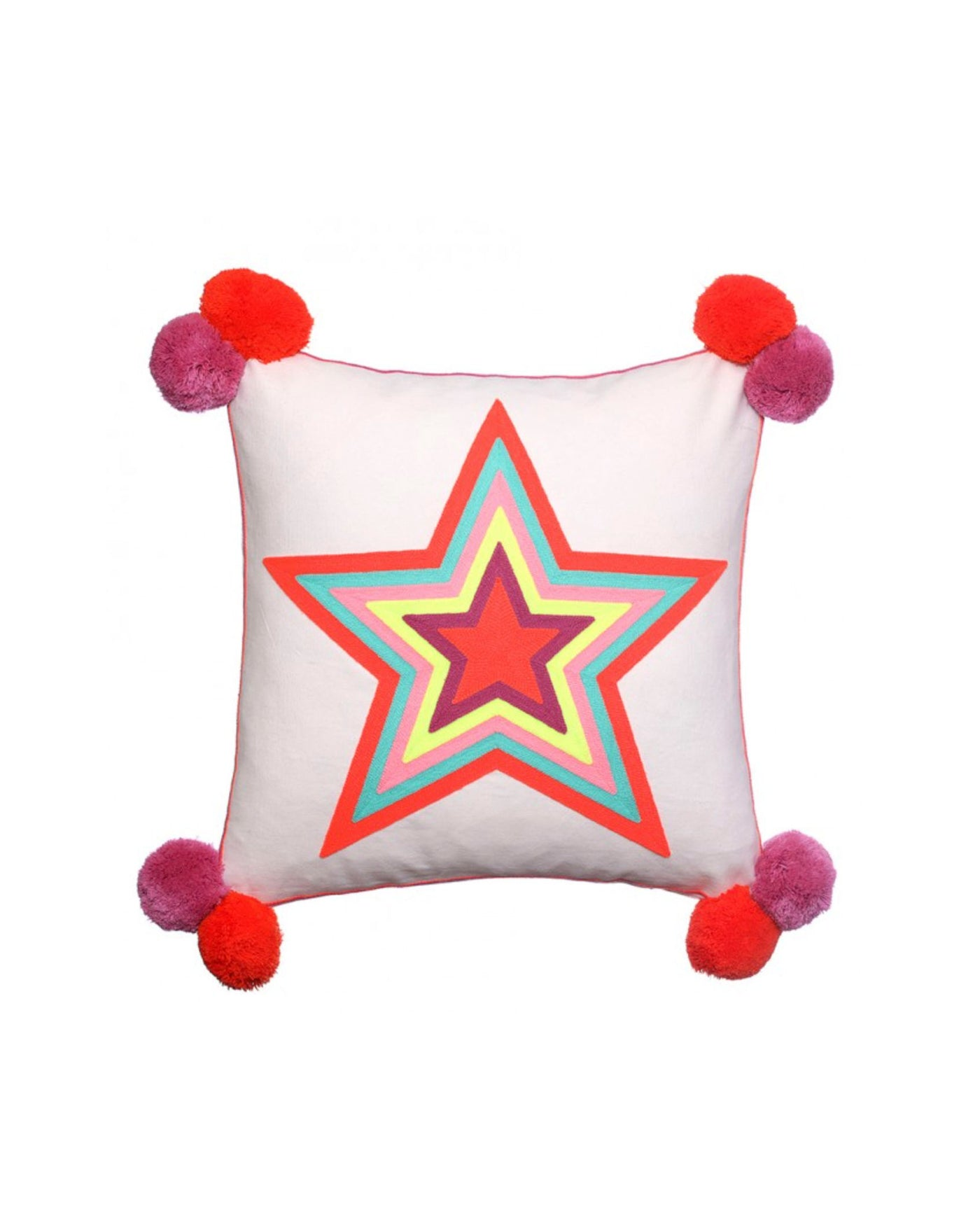What a Star Embroidered Cushion